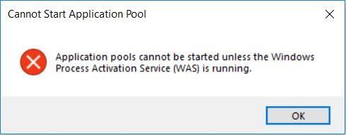 App Pools Cannot Be Started