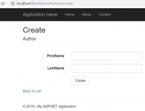 Create Author