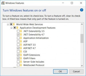 Turn On Features ASP.NET